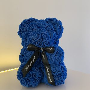 25 Centimeter Electric Blue RoseBear