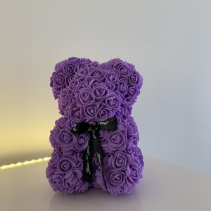 25 Centimeter Purple RoseBear