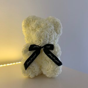 25 Centimeter Cream White RoseBear